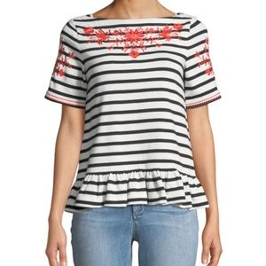Kate Spade | Broome street floral embroidered tee